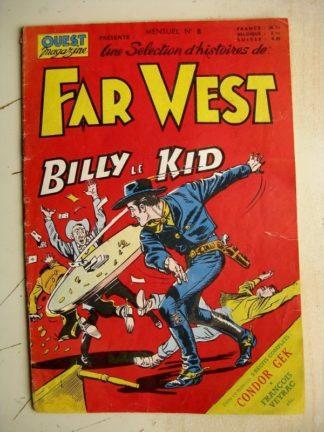 OUEST MAGAZINE (Une sélection d'histoires du far-West) N°8 BILLY LE KID (MIREILLE 1955)