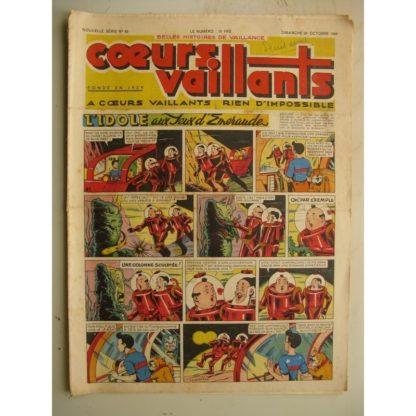 COEURS VAILLANTS N°43 (FLEURUS 1948) Tintin le Temple du Soleil - Vive l'Alsace