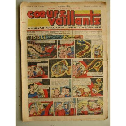 COEURS VAILLANTS N°42 (FLEURUS 1948) Tintin le Temple du Soleil