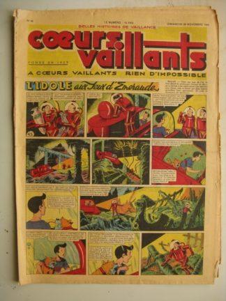 COEURS VAILLANTS N°48 (FLEURUS 1948) Tintin le Temple du Soleil