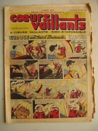 COEURS VAILLANTS N°49 (FLEURUS 1948) Tintin le Temple du Soleil