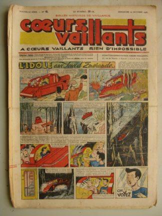 COEURS VAILLANTS N°41 (FLEURUS 1948) Tintin le Temple du Soleil