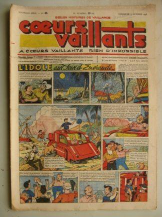COEURS VAILLANTS N°40 (FLEURUS 1948) Tintin le Temple du Soleil