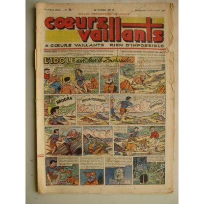 COEURS VAILLANTS N°39 (FLEURUS 1948) Tintin le Temple du Soleil