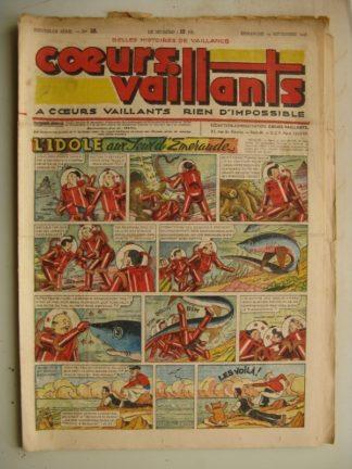 COEURS VAILLANTS N°38 (FLEURUS 1948) Tintin le Temple du Soleil