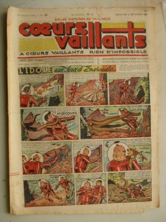 COEURS VAILLANTS N°37 (FLEURUS 1948) Tintin le Temple du Soleil