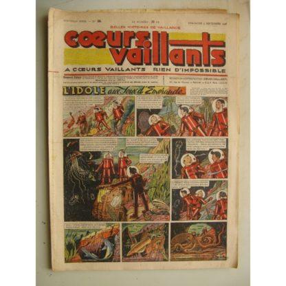 COEURS VAILLANTS N°36 (FLEURUS 1948) Tintin le Temple du Soleil
