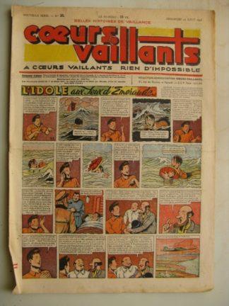 COEURS VAILLANTS N°35 (FLEURUS 1948) Tintin le Temple du Soleil