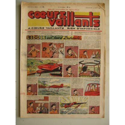 COEURS VAILLANTS N°33 (FLEURUS 1948) Tintin le Temple du Soleil