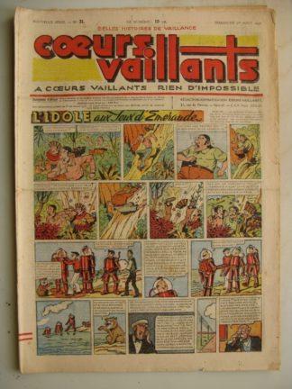 COEURS VAILLANTS N°31 (FLEURUS 1948) Tintin le Temple du Soleil