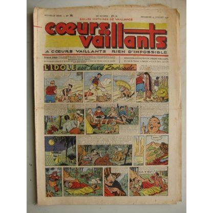 COEURS VAILLANTS N°30 (FLEURUS 1948) Tintin le Temple du Soleil