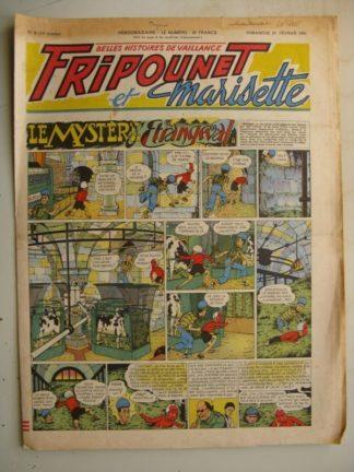 FRIPOUNET ET MARISETTE N°8 (FLEURUS 1954) Le mystère d'Etrangeval - Sylvain et sylvette - Zéphir