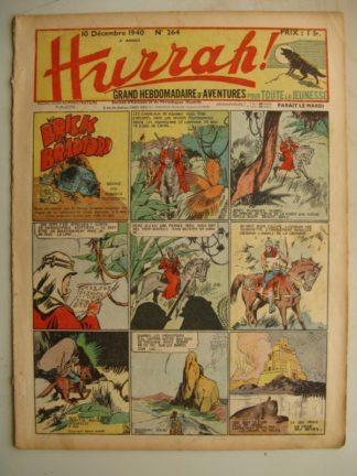 HURRAH N°264 (10 décembre 1940) Editions Mondiales