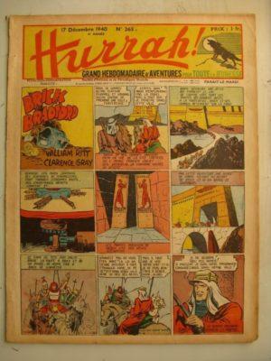HURRAH N°265 (17 décembre 1940) Editions Mondiales