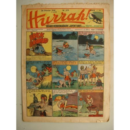 HURRAH N°275 (26 février 1941) Editions Mondiales