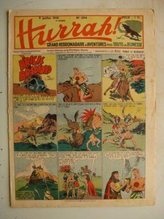 HURRAH N°294 (9 juillet 1941) Editions Mondiales