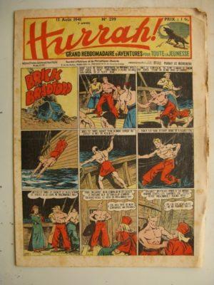 HURRAH N°299 (13 août 1941) Editions Mondiales