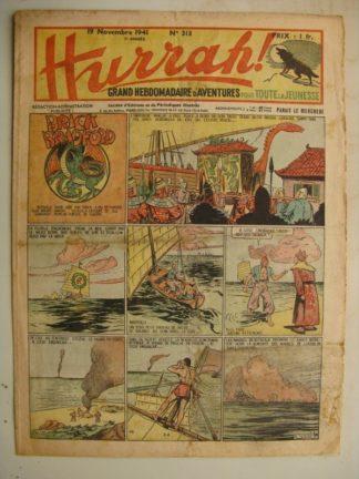 HURRAH N°313 (19 novembre 1941) Editions Mondiales