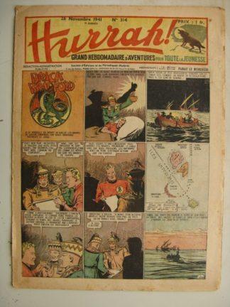 HURRAH N°314 (26 novembre 1941) Editions Mondiales