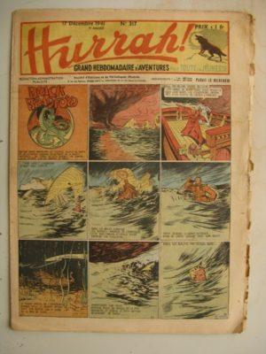 HURRAH N°317 (17 décembre 1941) Editions Mondiales