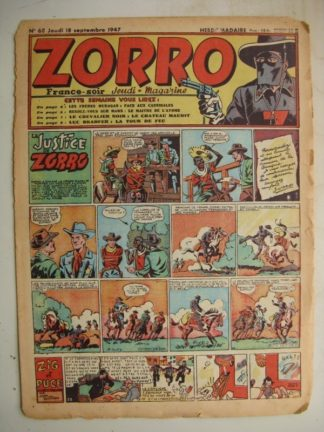 ZORRO JEUDI MAGAZINE N°68 (18 septembre 1947)