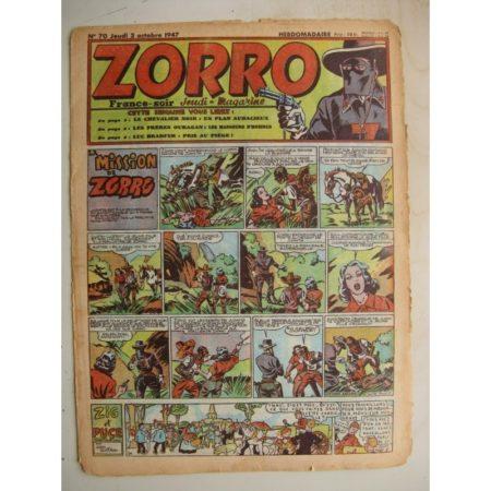 ZORRO JEUDI MAGAZINE N°70 (2 octobre 1947) Editions Chapelle