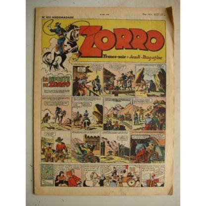 ZORRO JEUDI MAGAZINE N°102 (16 mai 1948) Editions Chapelle