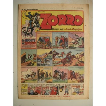 ZORRO JEUDI MAGAZINE N°103 (23 mai 1948) Editions Chapelle