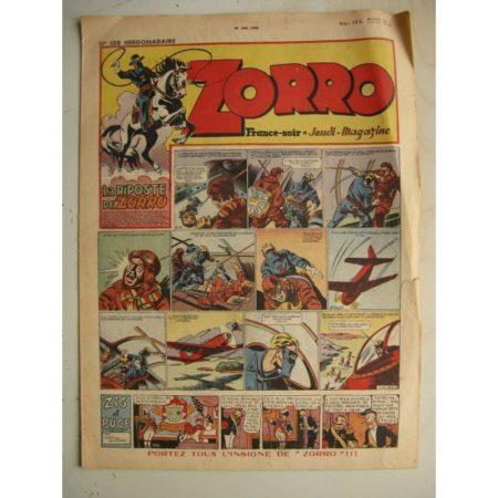 ZORRO JEUDI MAGAZINE N°108 (27 juin 1948) Editions Chapelle