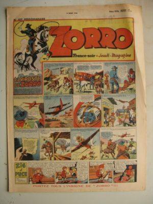 ZORRO JEUDI MAGAZINE N°109 (4 juillet 1948) Editions Chapelle