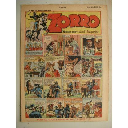 ZORRO JEUDI MAGAZINE N°111 (18 juillet 1948) Editions Chapelle