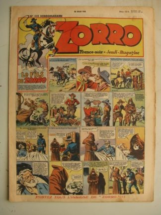 ZORRO JEUDI MAGAZINE N°112 (25 juillet 1948) Editions Chapelle