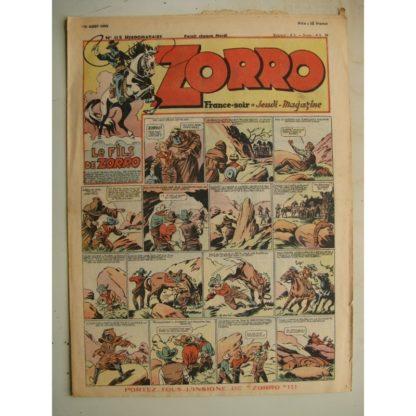 ZORRO JEUDI MAGAZINE N°115 (15 août 1948) Editions Chapelle
