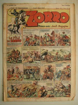 ZORRO JEUDI MAGAZINE N°119 (12 septembre 1948) Editions Chapelle