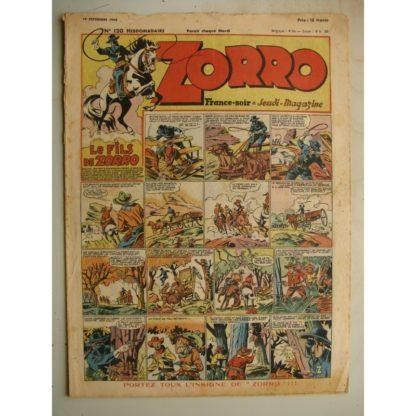 ZORRO JEUDI MAGAZINE N°120 (19 septembre 1948) Editions Chapelle