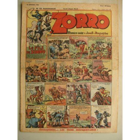 ZORRO JEUDI MAGAZINE N°121 (26 septembre 1948) Editions Chapelle