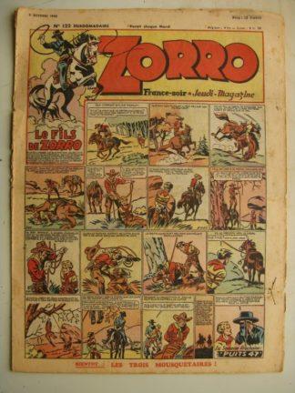 ZORRO JEUDI MAGAZINE N°122 (3 octobre 1948) Editions Chapelle