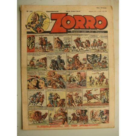 ZORRO JEUDI MAGAZINE N°123 (10 octobre 1948) Editions Chapelle