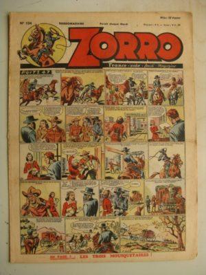 ZORRO JEUDI MAGAZINE N°124 (17 octobre 1948) Editions Chapelle
