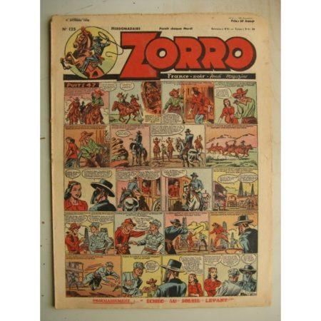 ZORRO JEUDI MAGAZINE N°125 (31 octobre 1948) Editions Chapelle