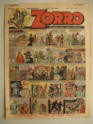 ZORRO JEUDI MAGAZINE N°126 (7 novembre 1948) Editions Chapelle