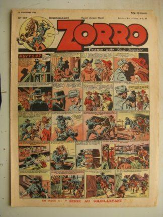 ZORRO JEUDI MAGAZINE N°127 (14 novembre 1948) Editions Chapelle