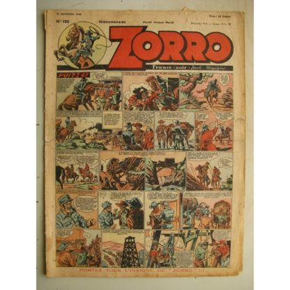 ZORRO JEUDI MAGAZINE N°128 (21 novembre 1948) Editions Chapelle