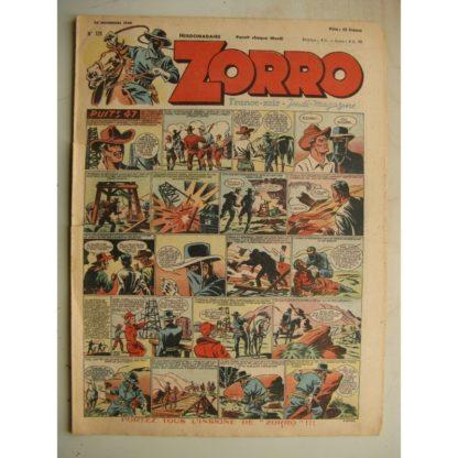ZORRO JEUDI MAGAZINE N°129 (28 novembre 1948) Editions Chapelle