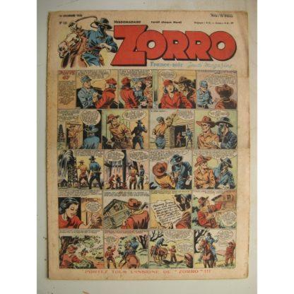 ZORRO JEUDI MAGAZINE N°131 (12 décembre 1948) Editions Chapelle