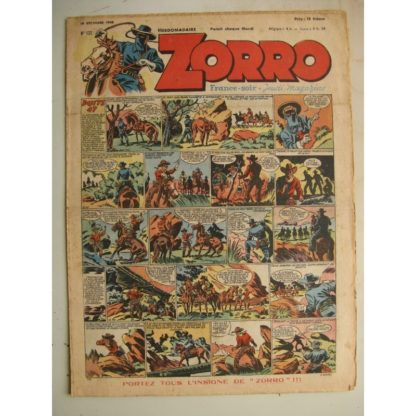 ZORRO JEUDI MAGAZINE N°132 (19 décembre 1948) Editions Chapelle