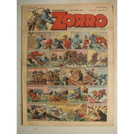 ZORRO JEUDI MAGAZINE N°133 (26 décembre 1948) Editions Chapelle