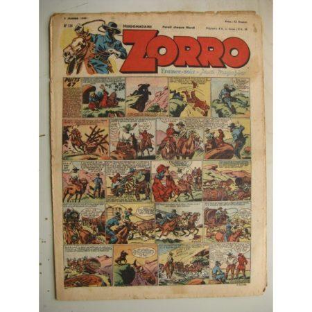 ZORRO JEUDI MAGAZINE N°134 (2 janvier 1949) Editions Chapelle