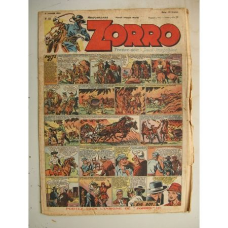 ZORRO JEUDI MAGAZINE N°135 (9 janvier 1949) Editions Chapelle