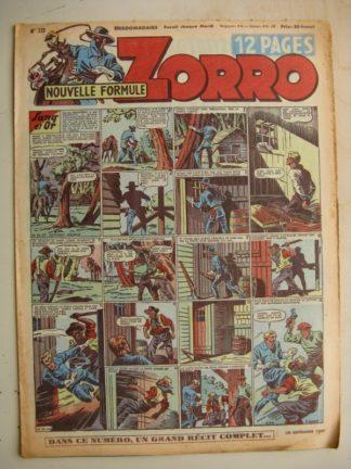 ZORRO JEUDI MAGAZINE N°222 (10 septembre 1950) Editions Chapelle